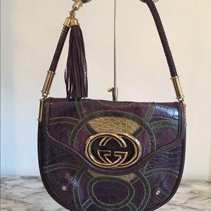 Gucci Exotic Patchwork Britt Medium Shoulder Bag
